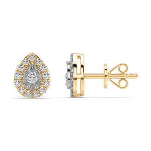 Pear-aglow Lab-Grown Diamond Stud Earrings in 10kt Gold with 1/3 CTTW