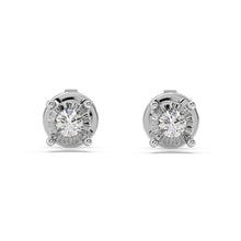 Load image into Gallery viewer, Glizmo Lab-Grown Diamond Studs in 10kt Gold with 1/10 CTTW