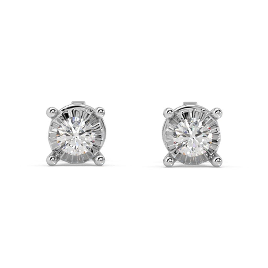 Glizmo Lab-Grown Diamond Studs in 10kt Gold with 1/5 CTTW