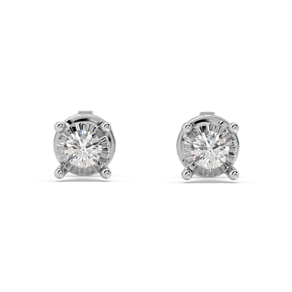 Glizmo Lab-Grown Diamond Studs in 10kt Gold with 1/6 CTTW