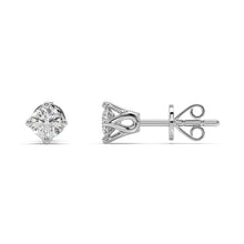 Load image into Gallery viewer, Starlight Diamond Studs in 14kt Gold with 1/2 CTTW
