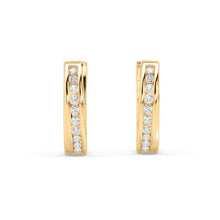Load image into Gallery viewer, Essence Lab-Grown Diamond Hoop Earrings in 10kt Gold with 1/5 CTTW