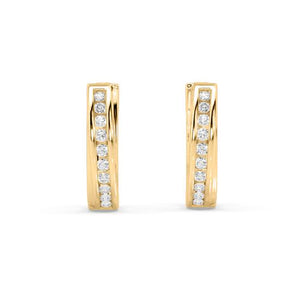 Essence Lab-Grown Diamond Hoop Earrings in 10kt Gold with 1/5 CTTW