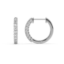 Load image into Gallery viewer, Expressions Diamond Hoop Earrings in 10kt Gold with 1/5 CTTW