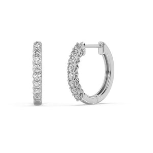 Expressions Diamond Hoop Earrings in 10kt Gold with 1/5 CTTW