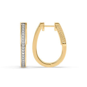 Constellation Diamond Hoop Earrings in 14kt Gold with 1/3 CTTW