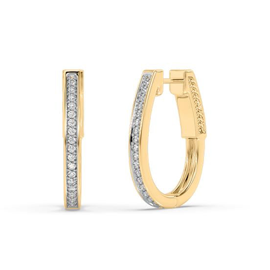 Constellation Lab-Grown Diamond Hoop Earrings in 14kt Gold with 1/3 CTTW