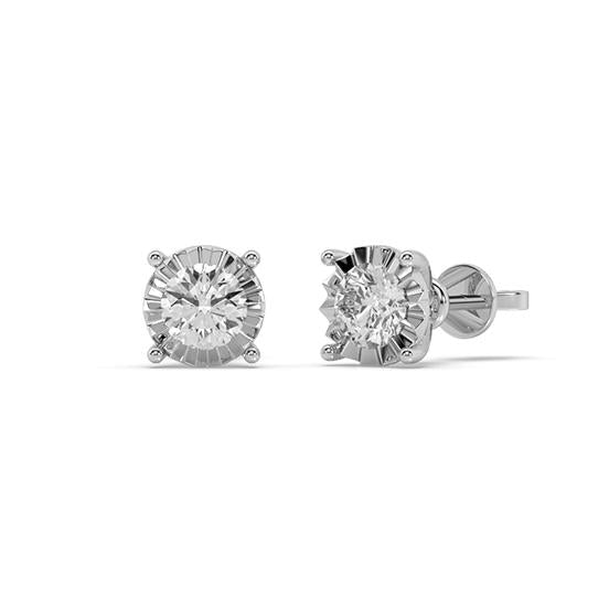 Galaxy Diamond Stud Earrings in 14kt Gold with 1/2 CTTW