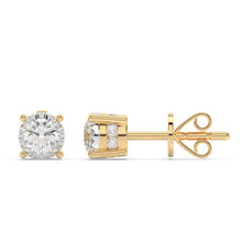 Load image into Gallery viewer, Made for You 14K Yellow Gold 1/2 cttw Lab-Grown Diamond Earrings