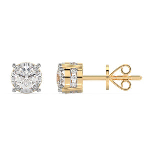 Made for You 14K Yellow Gold 3/4 cttw Lab-Grown Diamond Earrings
