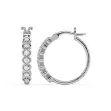 Load image into Gallery viewer, Made for You 14K White Gold 1/4 cttw Lab-Grown Diamond Earrings