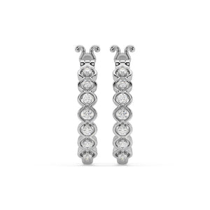 Made for You 14K White Gold 1/4 cttw Lab-Grown Diamond Earrings