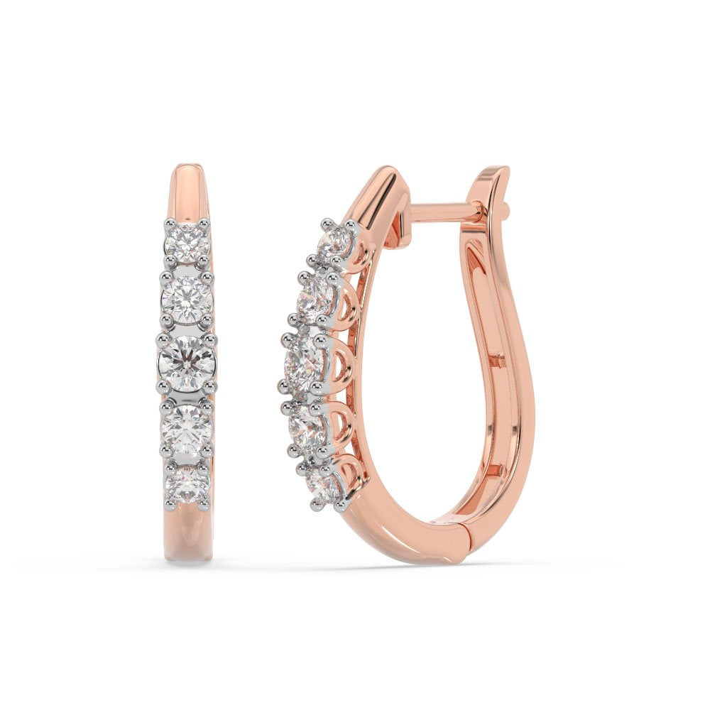Made for You 14K Rose Gold 1/2 CTTW Lab-Grown Diamond Hoop Earrings