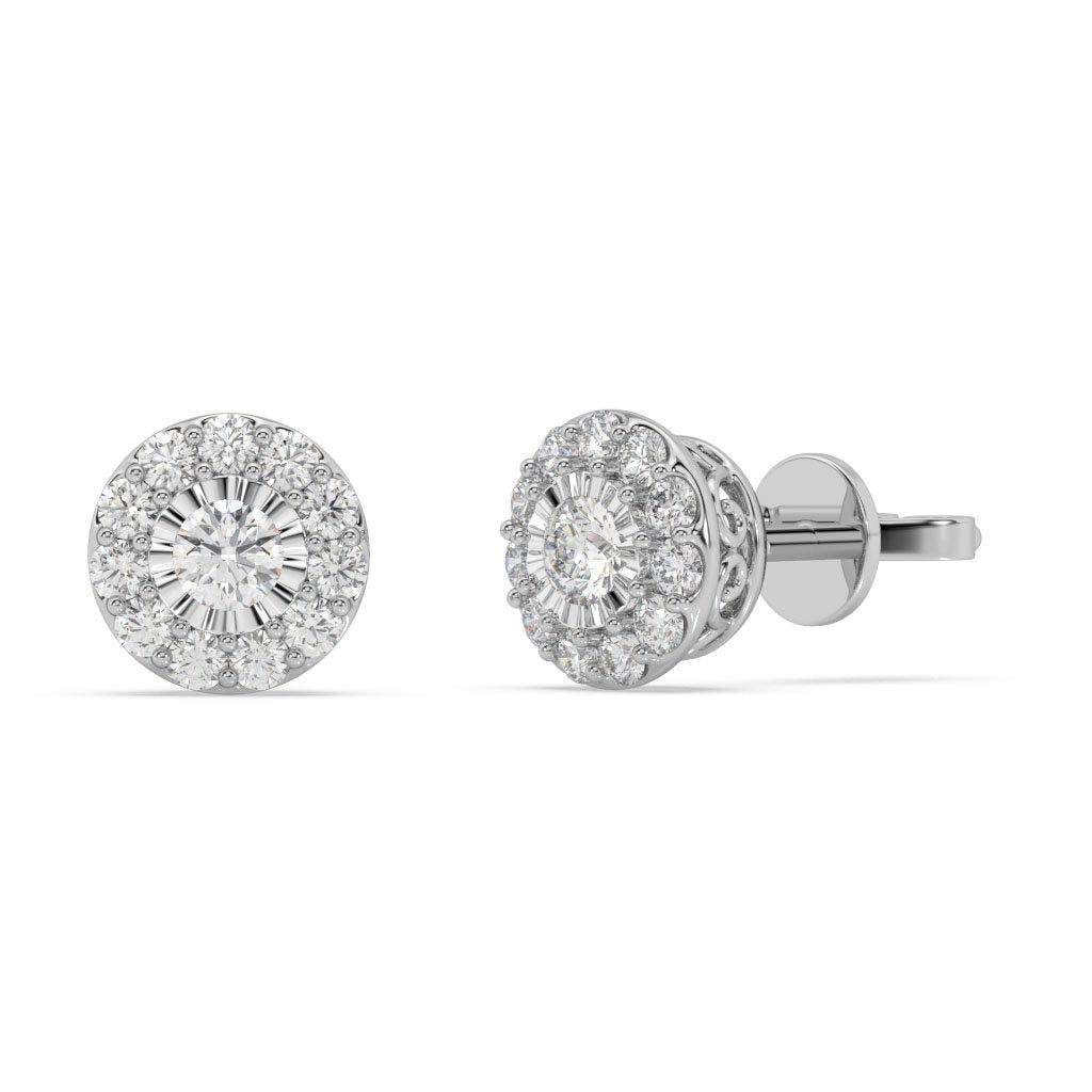 Made for You 14K White Gold 1/2 cttw Lab-Grown Diamond Earrings