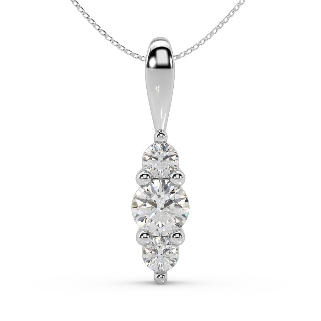 Trinity Lab-Grown Diamond Pendant in 10kt Gold with 1/4 CTTW