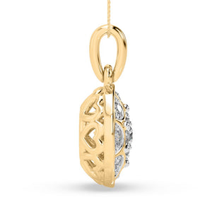 Passion Baroque Lab-Grown Diamond Pendant in 10kt Gold with 1/5 CTTW