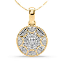 Load image into Gallery viewer, Passion Baroque Lab-Grown Diamond Pendant in 10kt Gold with 1/5 CTTW