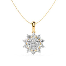 Load image into Gallery viewer, Sunshine Blossom Lab-Grown Diamond Pendant in 14kt Gold with 1/2 CTTW