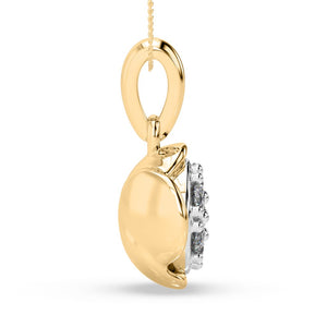 Blossom Bud Lab-Grown Diamond Pendant in 10kt Gold with 1/4 CTTW