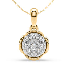 Load image into Gallery viewer, Blossom Bud Diamond Pendant in 10kt Gold with 1/4 CTTW