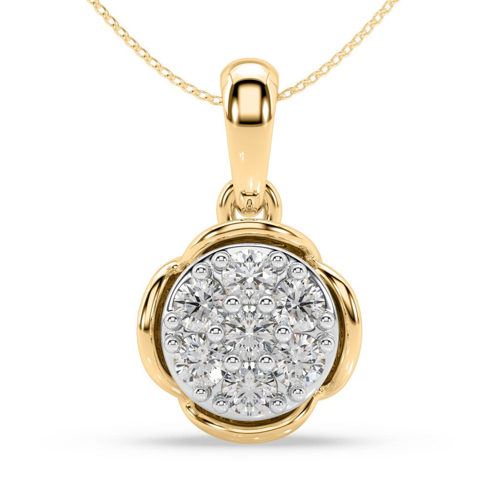 Blossom Bud Diamond Pendant in 10kt Gold with 1/4 CTTW