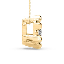 Load image into Gallery viewer, Gold Star Lab-Grown Diamond Pendant in 10kt Gold with 1/8 CTTW