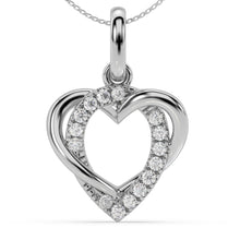 Load image into Gallery viewer, Made for You 14K White Gold 1/10 cttw Lab-Grown Diamond Pendant Necklace