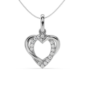 Made for You 14K White Gold 1/10 cttw Lab-Grown Diamond Pendant Necklace