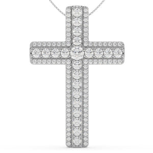 Made for You 14K White Gold 1 cttw Lab-Grown Diamond Pendant Necklace