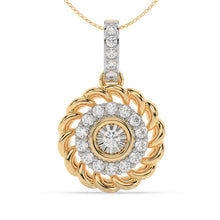 Load image into Gallery viewer, Made for You 10K Yellow Gold 1/4 cttw Lab-Grown Diamond Pendant Necklace