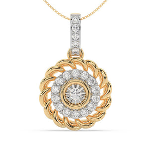 Made for You 10K Yellow Gold 1/4 cttw Lab-Grown Diamond Pendant Necklace