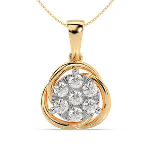 Made for You 14K Yellow Gold 1/2 cttw Lab-Grown Diamond Pendant Necklace
