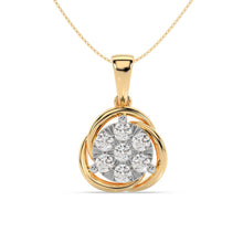 Load image into Gallery viewer, Made for You 14K Yellow Gold 1/2 cttw Lab-Grown Diamond Pendant Necklace