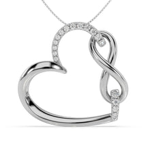 Load image into Gallery viewer, Made for You 14K White Gold 1/6 cttw Lab-Grown Diamond Pendant Necklace