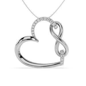 Made for You 14K White Gold 1/6 cttw Lab-Grown Diamond Pendant Necklace