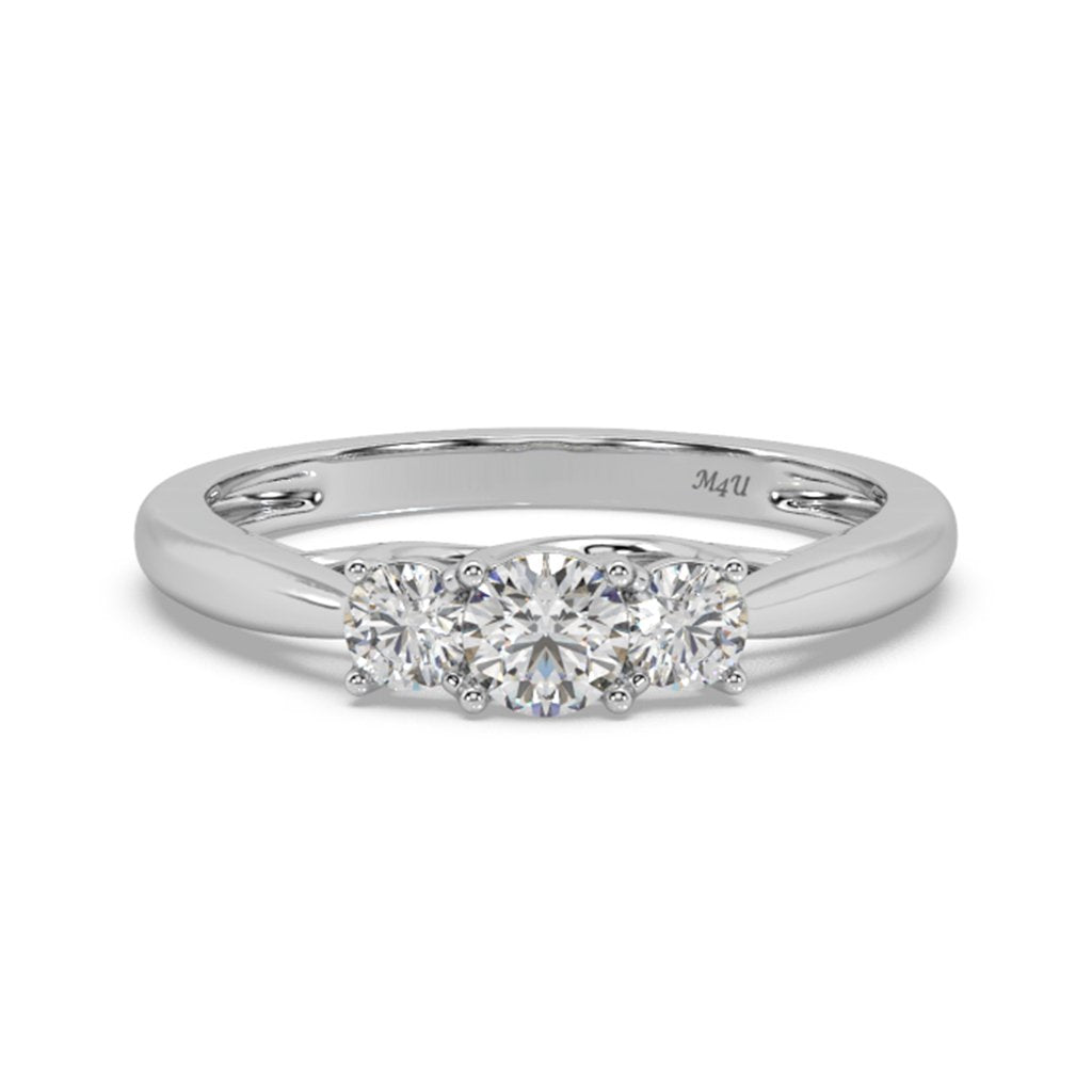 Classic Triad Lab-Grown Diamond Ring in 14kt Gold with 1/2 CTTW