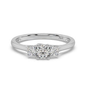 Three Stone Classic Diamond Ring in 14kt Gold with 1/2 CTTW