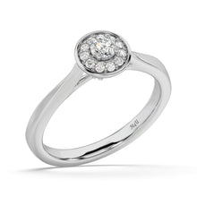 Load image into Gallery viewer, Made for You 14K White Gold 1/4 cttw Lab-Grown Diamond Ring