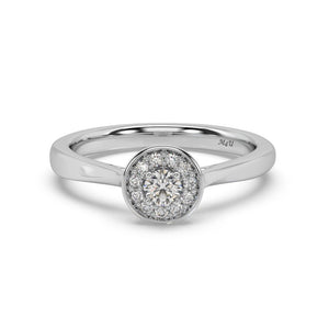 Made for You 14K White Gold 1/4 cttw Lab-Grown Diamond Ring