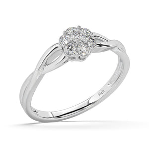 Blazing Sun Lab-Grown Diamond Ring in 10kt Gold with 1/4 CTTW