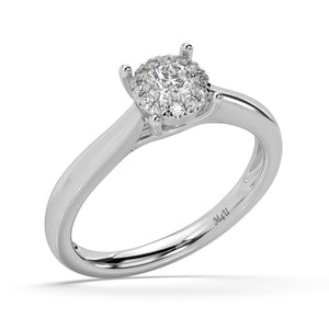 Moonlight Classic Lab-Grown Diamond Ring in 14kt Gold with 1/3 CTTW