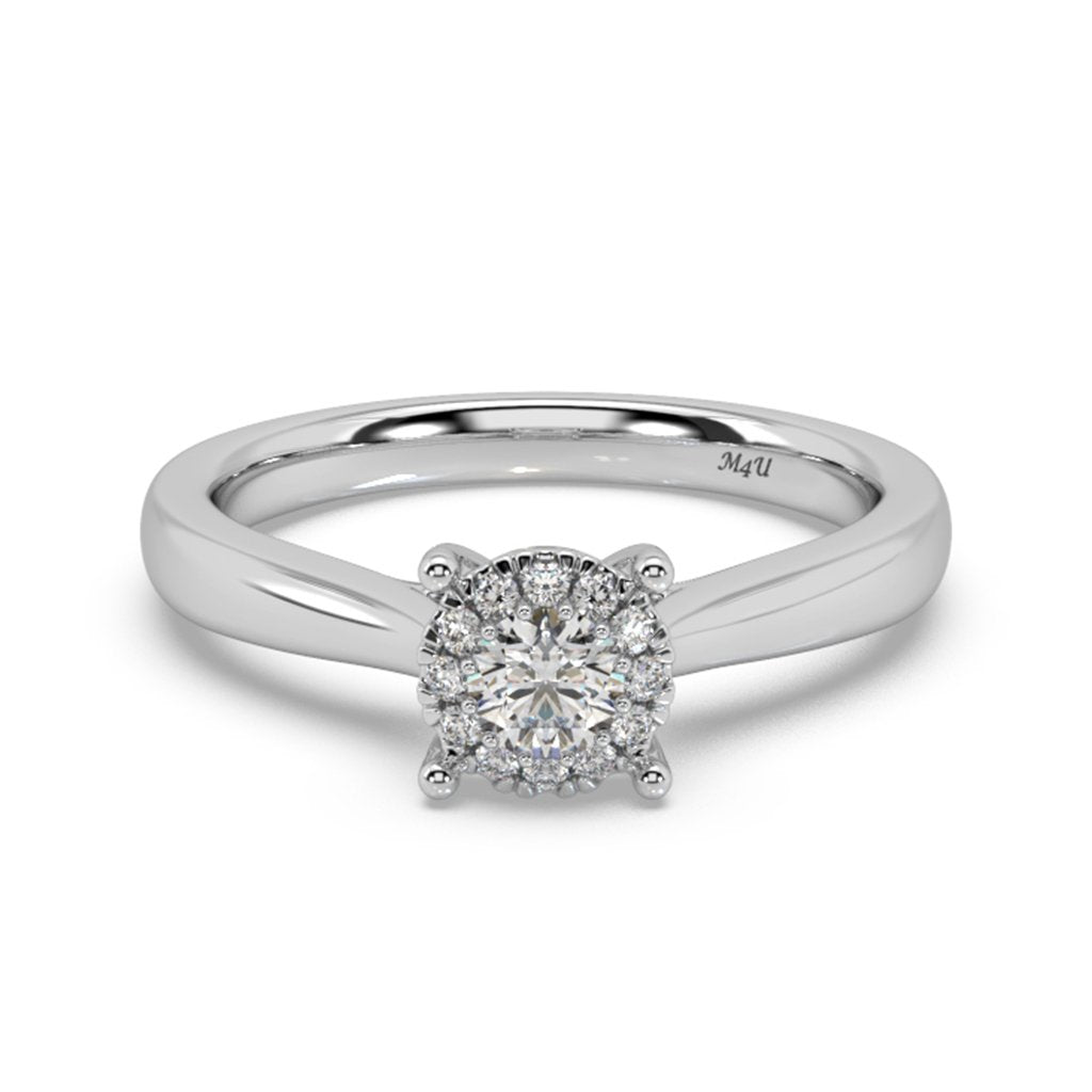 Radiant Classic Lab-Grown Diamond Ring in 14kt Gold with 1/3 CTTW