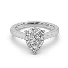 Load image into Gallery viewer, Made for You 14K White Gold 1/2 cttw Lab-Grown Diamond Ring