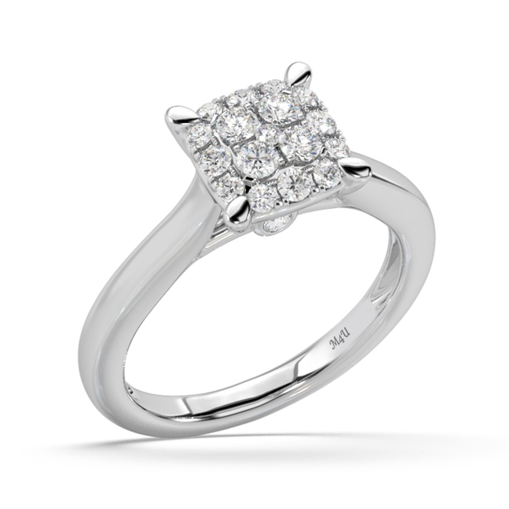 Made for You 14K White Gold 5/8 cttw Lab-Grown Diamond Ring
