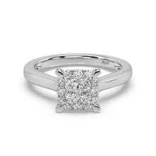 Load image into Gallery viewer, Made for You 14K White Gold 5/8 cttw Lab-Grown Diamond Ring