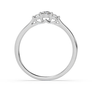 Made for You 10K White Gold 1/4 cttw Lab-Grown Diamond Ring