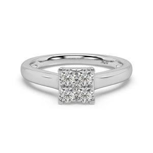 Fair Sqaure Diamond Ring in 14kt Gold with 1/2 CTTW