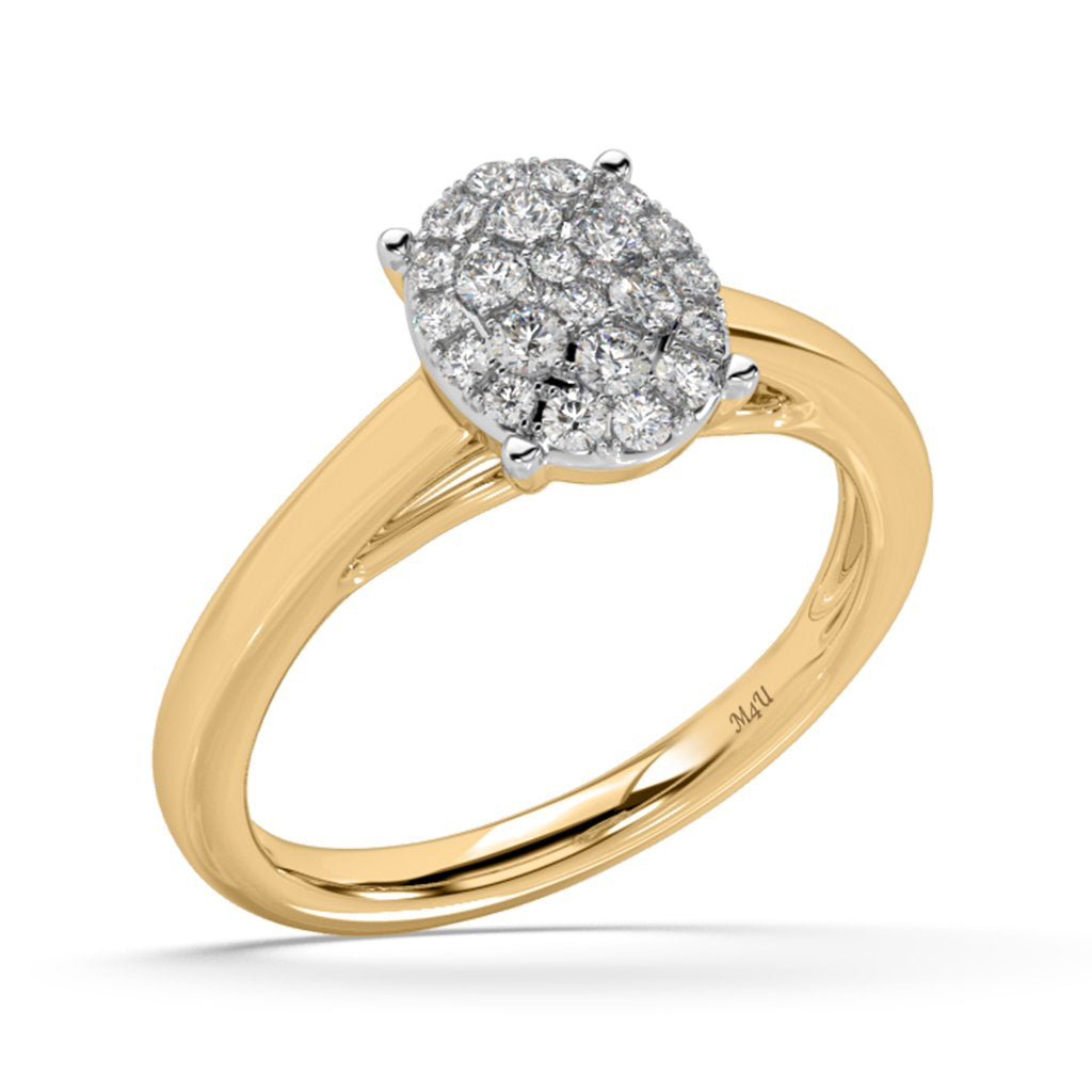 Cystal Ball Lab-Grown Diamond Ring in 14kt Gold with 1/3 CTTW