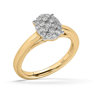Cystal Ball Diamond Ring in 14kt Gold with 3/8 CTTW