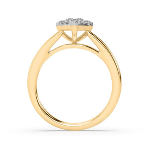 Pear-ablaze Diamond Ring in 14kt Gold with 1/2 CTTW